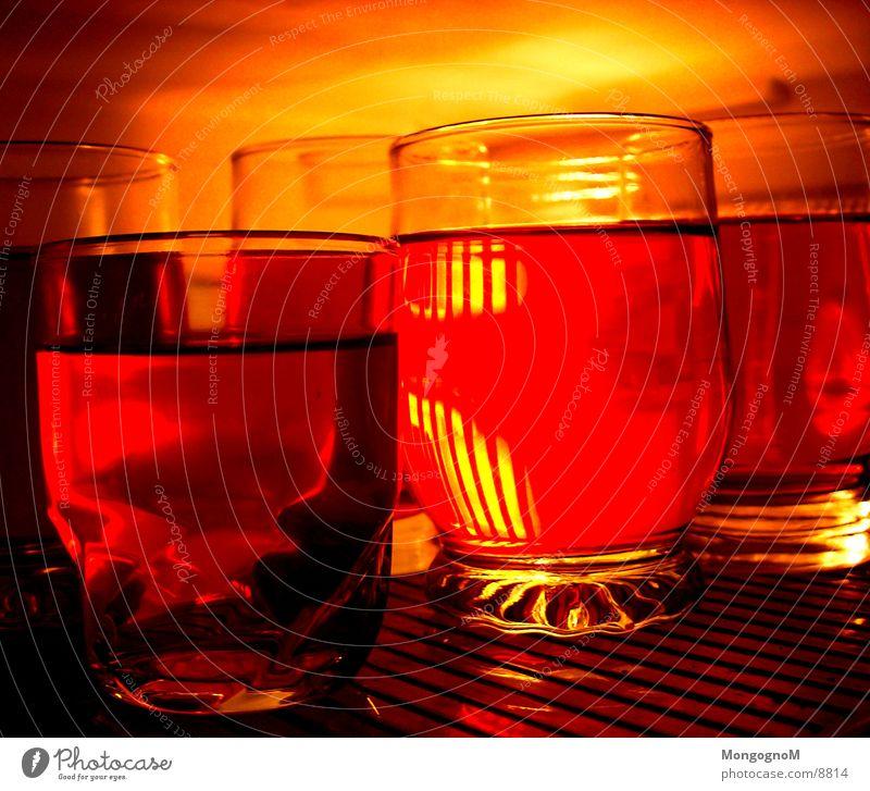 Götterspeise rot Ernährung orange Glas Kühlschrank