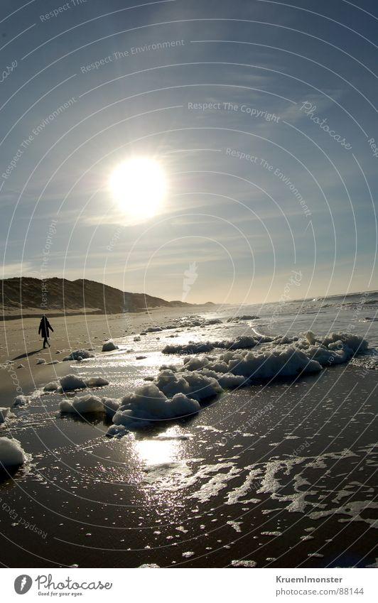 Ein Wintertag Mensch Sonne Meer Strand Sand Erde Sylt