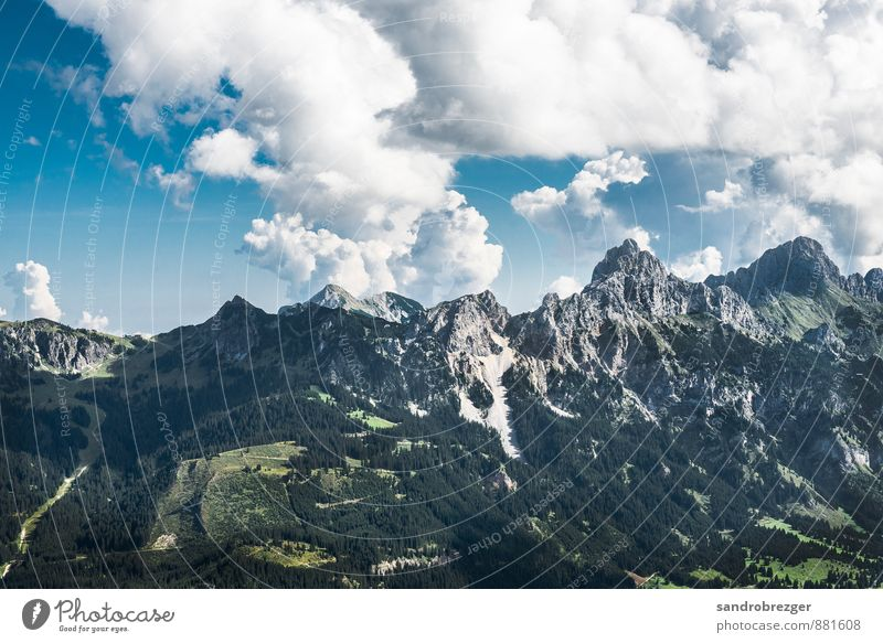 berg ruft Sport Klettern Bergsteigen wandern Umwelt Natur Landschaft Pflanze Klima Klimawandel Wetter Schönes Wetter Hügel Felsen Alpen Berge u. Gebirge Gipfel