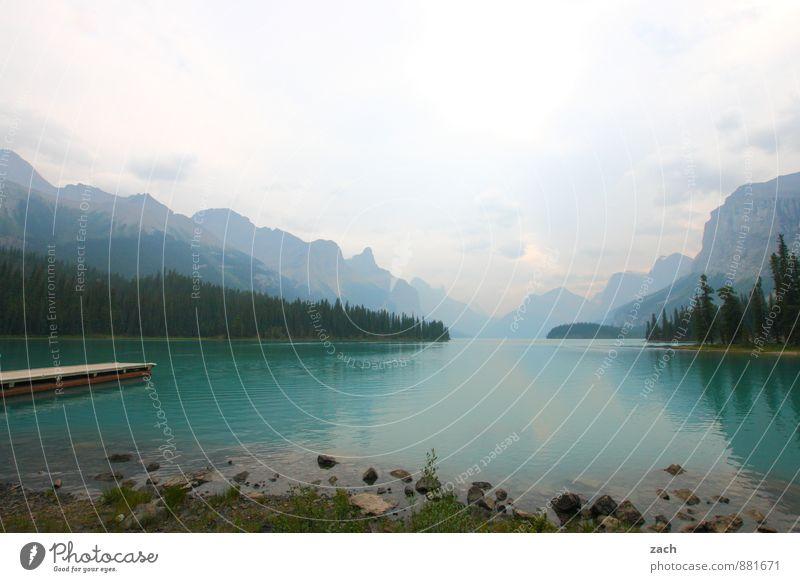 mit den Füßen rein Himmel Natur Ferien & Urlaub & Reisen blau Pflanze grün Wasser Sommer Baum Landschaft Wolken Wald Berge u. Gebirge Herbst Küste See