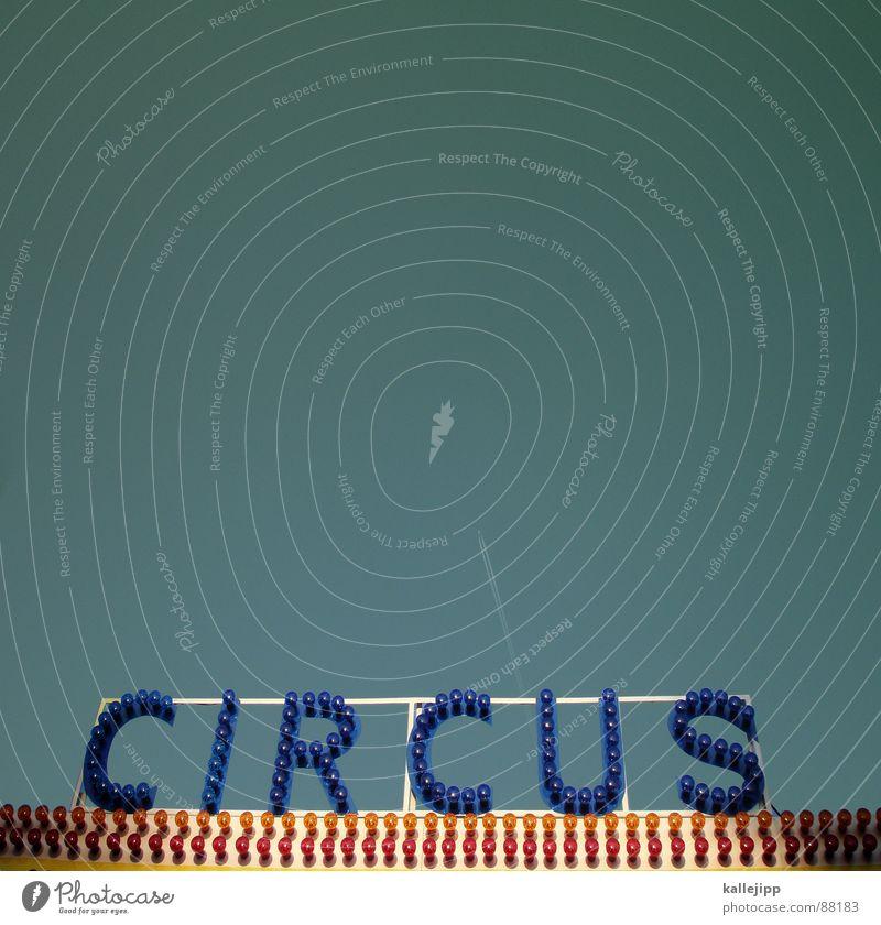 luftnummer Wanderzirkus Zirkus Passagierflugzeug fliegen Kondensstreifen Typographie Leuchtreklame Zirkuszelt Manege Artist Schauspieler Show Lampe glühen