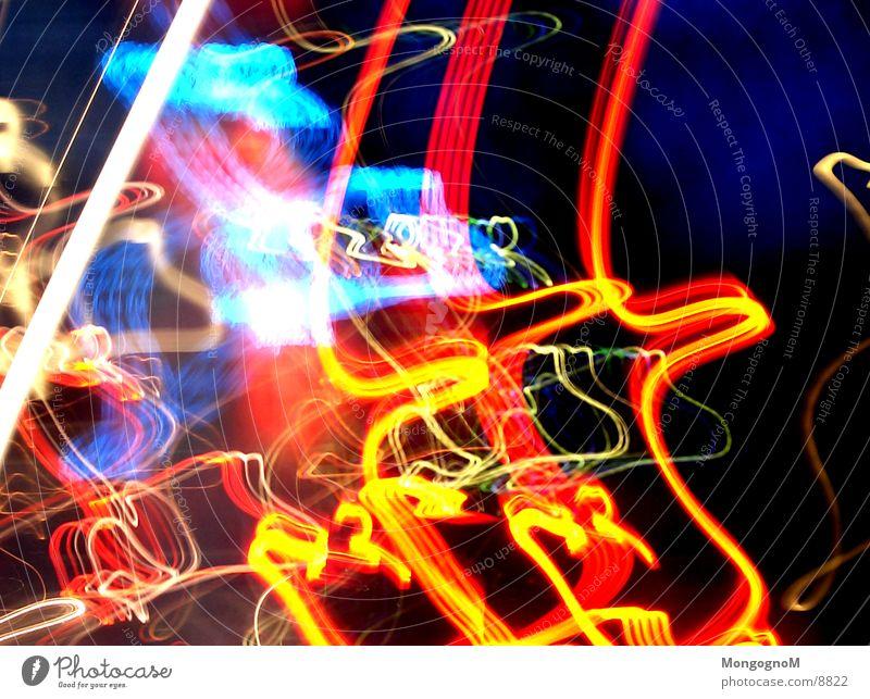 voll Hight ! Licht rot violett Langzeitbelichtung Langzeitbelichtet orange blau