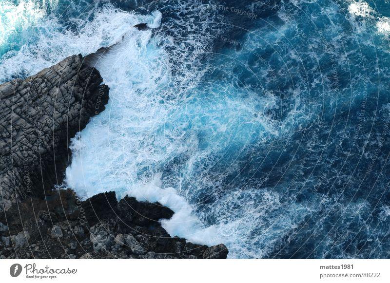 Cap Formentor blau Wasser Ferien & Urlaub & Reisen Sommer Meer Einsamkeit Wellen Trauer Klettern tauchen Erfrischung Spanien Abschied Mallorca Klippe Wildnis