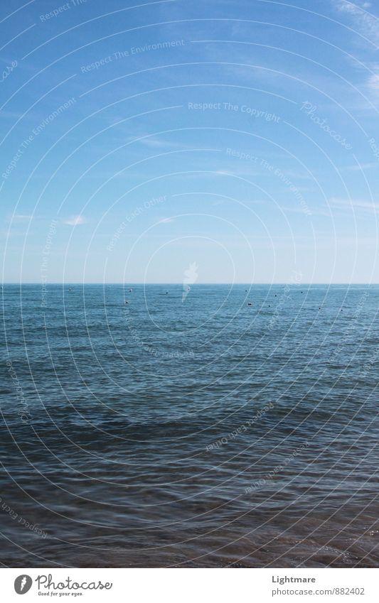 Unendliche Weiten Himmel Natur Ferien & Urlaub & Reisen blau Wasser Sommer Meer Erholung ruhig Wolken Ferne Frühling Schwimmen & Baden Denken Stimmung Horizont