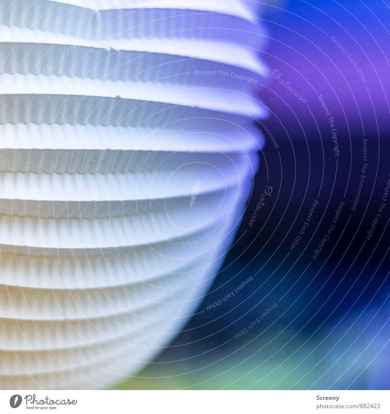 Lampion | UT Köln Papier Dekoration & Verzierung Lampe leuchten rund blau mehrfarbig Freude Leichtigkeit Farbfoto Außenaufnahme Detailaufnahme Menschenleer Tag