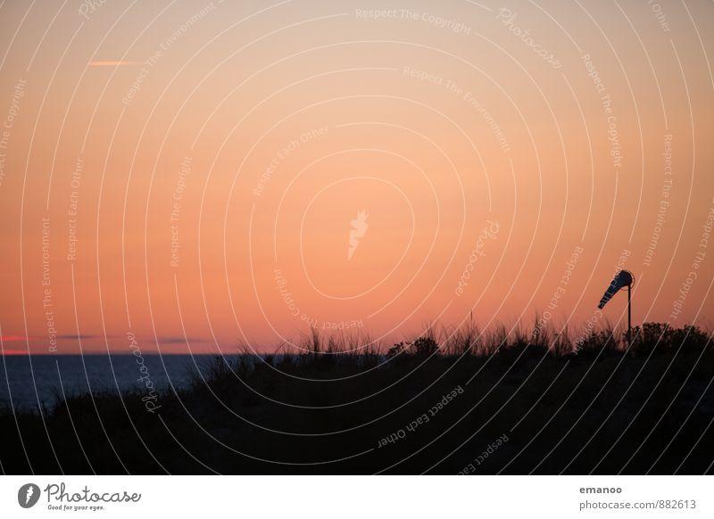 bisschen Wind, bisschen Meer Himmel Natur Ferien & Urlaub & Reisen Wasser Sommer Sonne Landschaft Strand Ferne schwarz Wärme Herbst Gras Freiheit Horizont