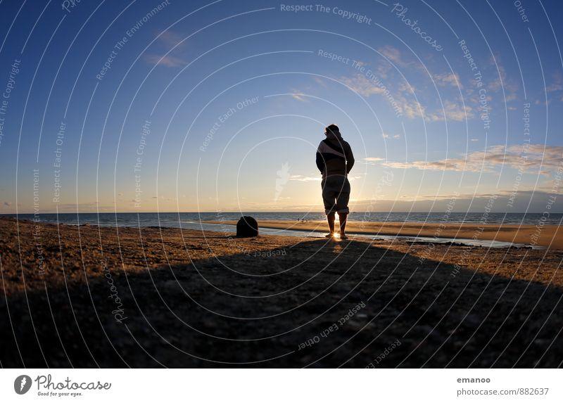 atlantic blockhaus sunset Mensch Natur Ferien & Urlaub & Reisen Jugendliche Mann Sommer Sonne Erholung Meer Einsamkeit Landschaft Freude Junger Mann Strand Ferne Erwachsene