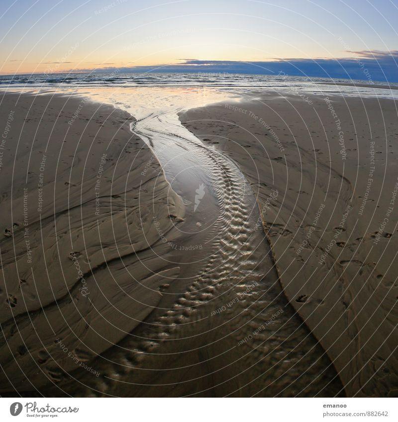 Abfluss Ferien & Urlaub & Reisen Ferne Sommer Strand Meer Natur Landschaft Wasser Horizont Klima Wetter Wellen Küste Bach Fluss blau Bewegung Atlantik