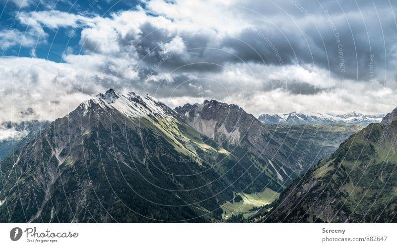Wetter zeht auf... Ferien & Urlaub & Reisen Tourismus Ausflug Berge u. Gebirge wandern Natur Landschaft Pflanze Himmel Wolken Sommer Alpen Walmendinger Horn