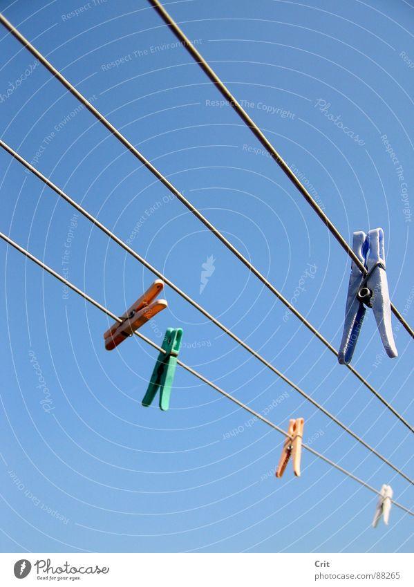 clamp Himmel Bekleidung Wäscheklammern
