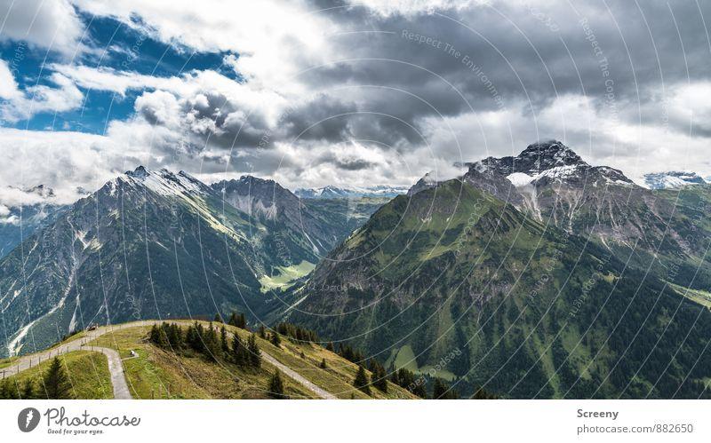 Kleinwalsertal / Fellhorn Himmel Natur Ferien & Urlaub & Reisen Sommer Landschaft Wolken Ferne Berge u. Gebirge Freiheit Felsen Wetter Idylle Tourismus groß