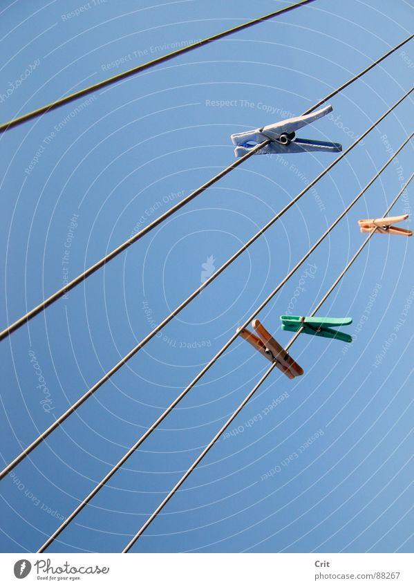 clamp 2 Himmel Bekleidung Wäscheklammern
