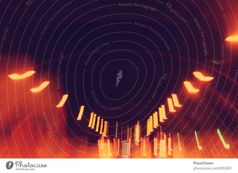 night in the city Ferien & Urlaub & Reisen Stadt Straße Architektur Stil Stimmung glänzend orange leuchten Energie Coolness Skyline Stadtzentrum chaotisch Jahrmarkt trashig