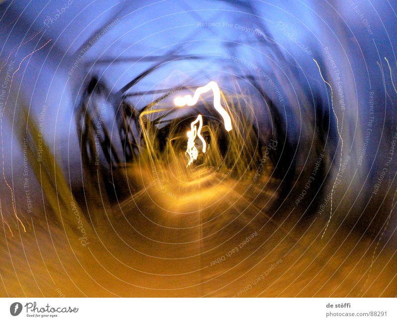 goes.round.babäh See Abend Licht Dämmerung schwindelig Kontrast Mischung Gleise Strahlung Blitze Freude Brücke hengsteysee Beleuchtung Bewegung Schwindelgefühl