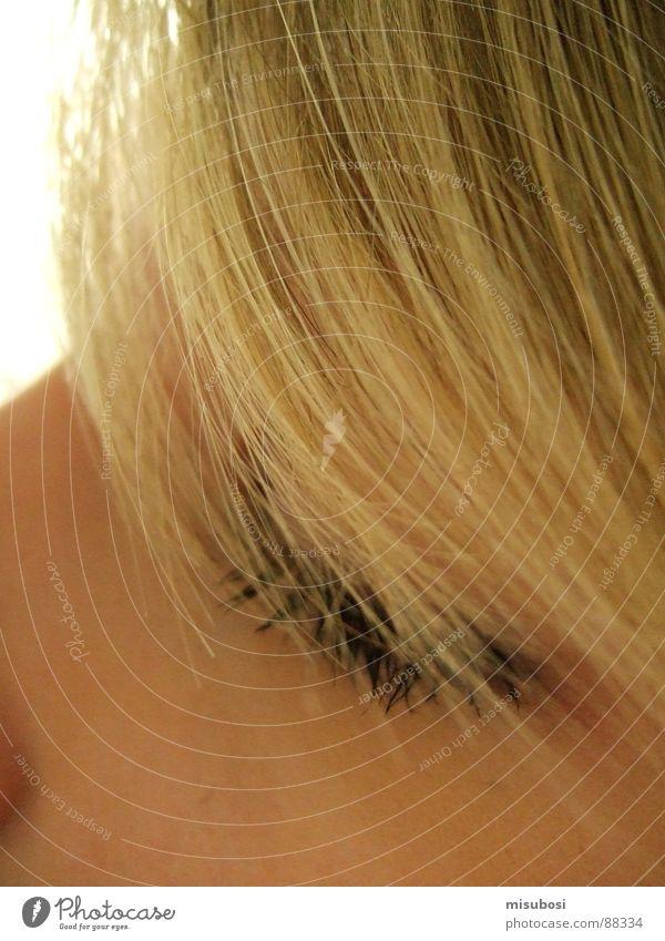 Blondi Frau Gesicht Auge Haare & Frisuren blond Haarsträhne