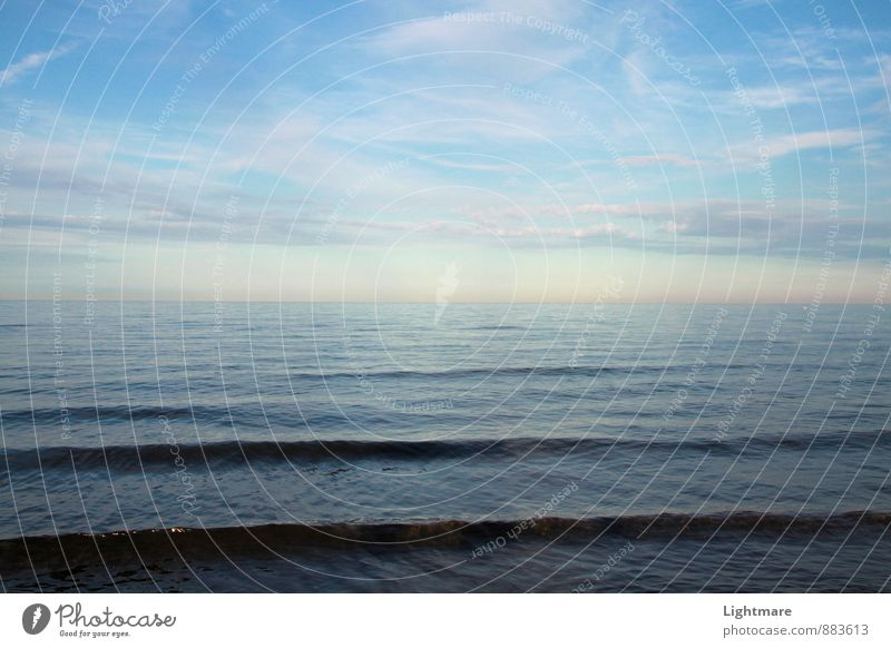 Meereslinien Himmel Natur blau Wasser Meer Erholung Einsamkeit ruhig Ferne Gefühle Schwimmen & Baden Stimmung Horizont Zufriedenheit ästhetisch nass