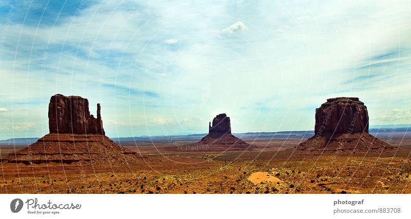 Amerika Natur Landschaft Wetter Felsen Berge u. Gebirge Sehenswürdigkeit Wahrzeichen Monument Valley hören Jagd kämpfen Blick Gefühle Leben Tourismus