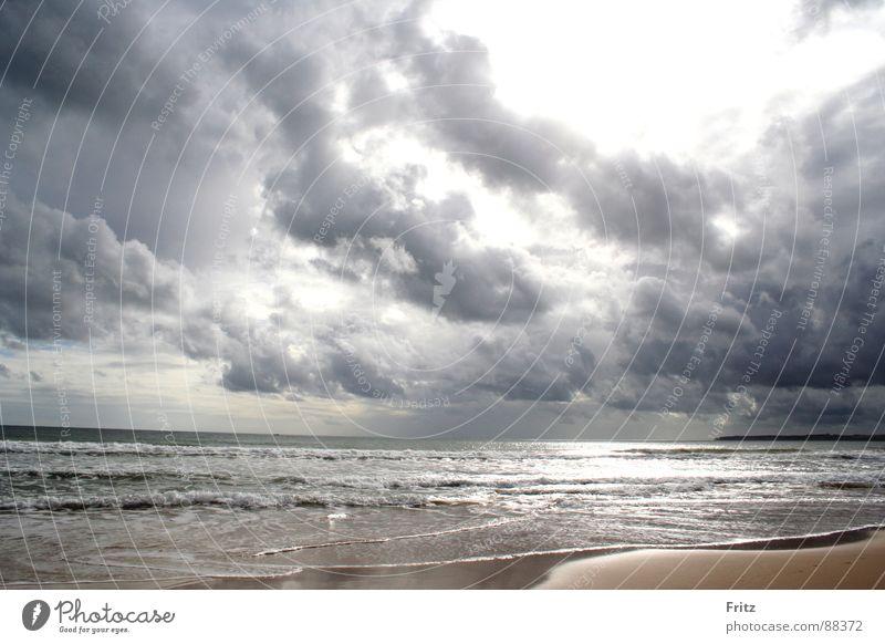 Meer & Wolken Meer Strand Wolken dunkel Wellen Portugal Algarve
