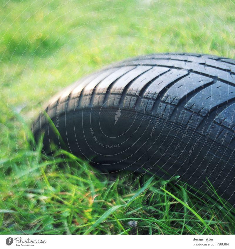 Gras drüber Wiese Vergänglichkeit Unfall Spielplatz Rocker Graben beerdigen Wippe