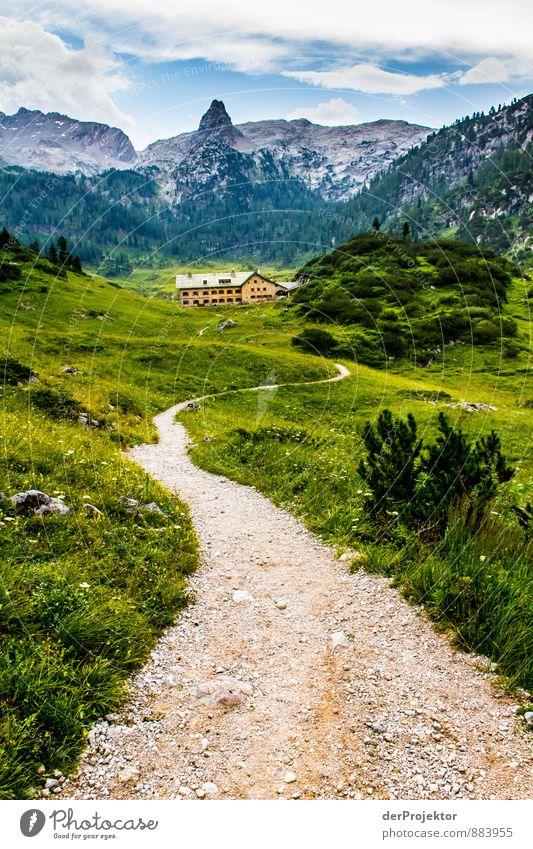 Der Weg zum Kärlingerhaus am Funtensee Ferien & Urlaub & Reisen Tourismus Abenteuer Ferne wandern Umwelt Natur Landschaft Pflanze Sommer Hügel Felsen Alpen