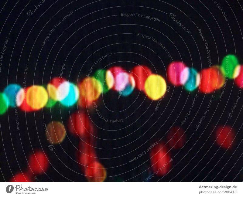 tv-lichter* rot grün gelb türkis Raster Bildschirm Fernseher Lichtpunkt Unschärfe festlich Lichterkette Fuzzy Q. Jones orange ungenau Lichteinfall obskur
