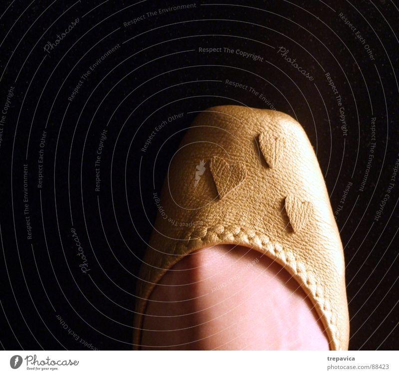 goldener schuh Hintergrundbild Aschenputtel Schuhe Bekleidung Frau feminin schwarz Fuß foot golden shoe isolated 1 footwear vogue footgear woman Herz heart