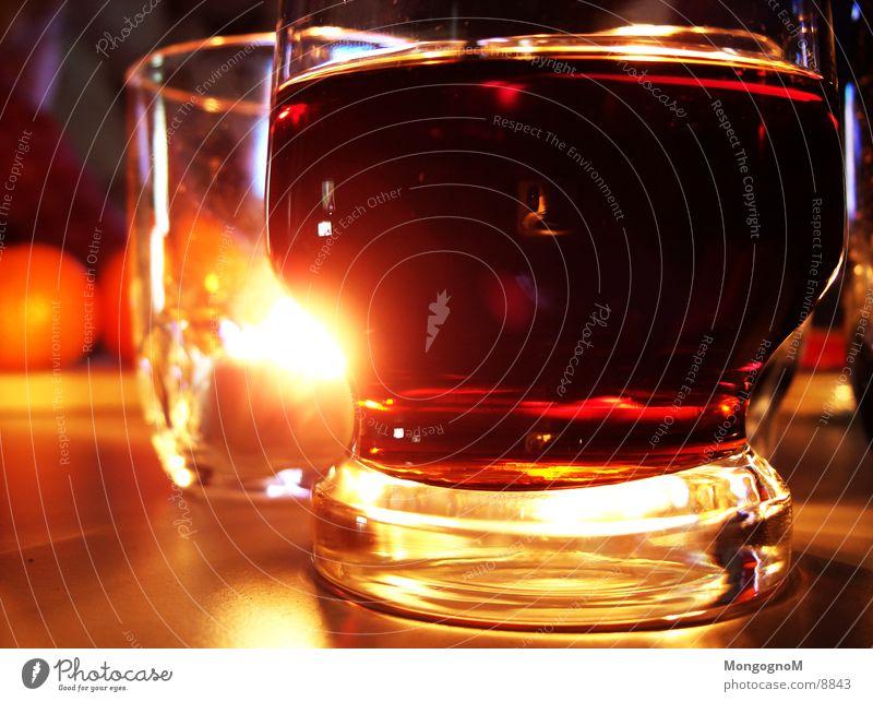 Cola Glas Kerze Alkohol