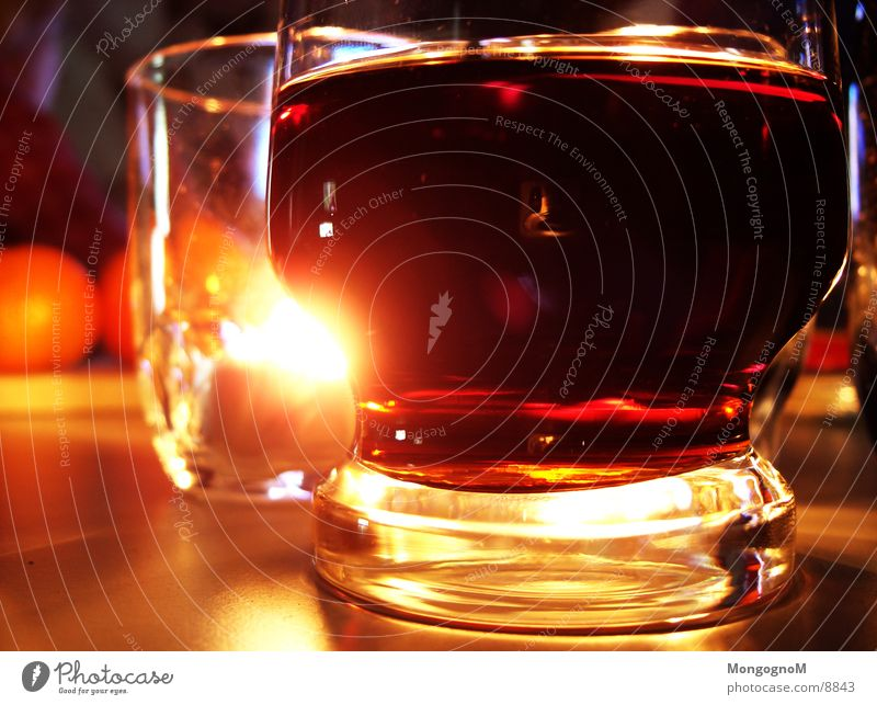 Cola Glas Licht Kerze Alkohol
