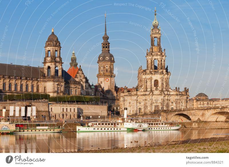 DRESDEN Natur Ferien & Urlaub & Reisen Stadt Erholung Reisefotografie Architektur Religion & Glaube Deutschland Idylle Kirche Brücke Kultur Postkarte himmlisch