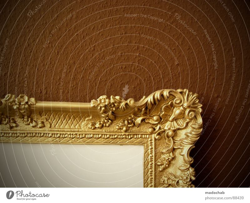 SPONSOR GESUCHT alt Einsamkeit Wand Spielen braun Raum Kunst elegant gold leer einfach Kitsch Dekoration & Verzierung Bild Dinge Reichtum