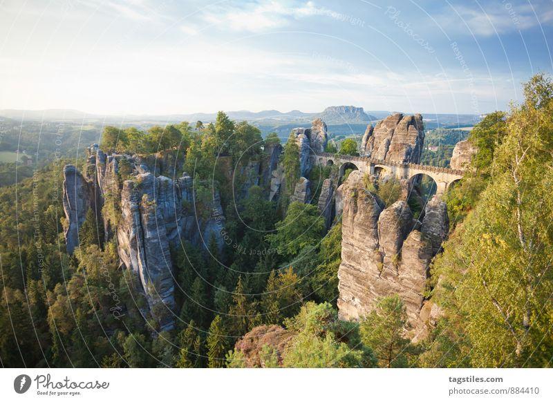 GUTEN MORGEN! Natur Ferien & Urlaub & Reisen Erholung Wald Berge u. Gebirge Reisefotografie Architektur Felsen Deutschland Idylle Tourismus Aussicht Brücke