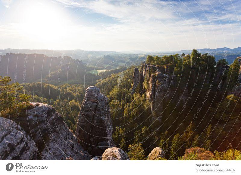 NATUR Natur Ferien & Urlaub & Reisen Baum Erholung Wald Berge u. Gebirge Reisefotografie Architektur Felsen Deutschland Idylle Tourismus Aussicht Postkarte