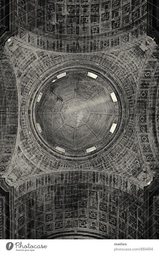 Dächle dunkel Wand Mauer Kirche Dach Bauwerk Sehenswürdigkeit Kuppeldach Bekanntheit Lichteinfall Kassettendecke