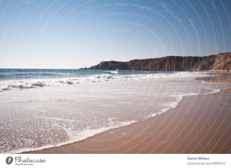 Portugal Himmel Natur Ferien & Urlaub & Reisen Wasser Sommer Sonne Erholung Meer Landschaft ruhig Strand Ferne Wärme Schwimmen & Baden Sand Horizont