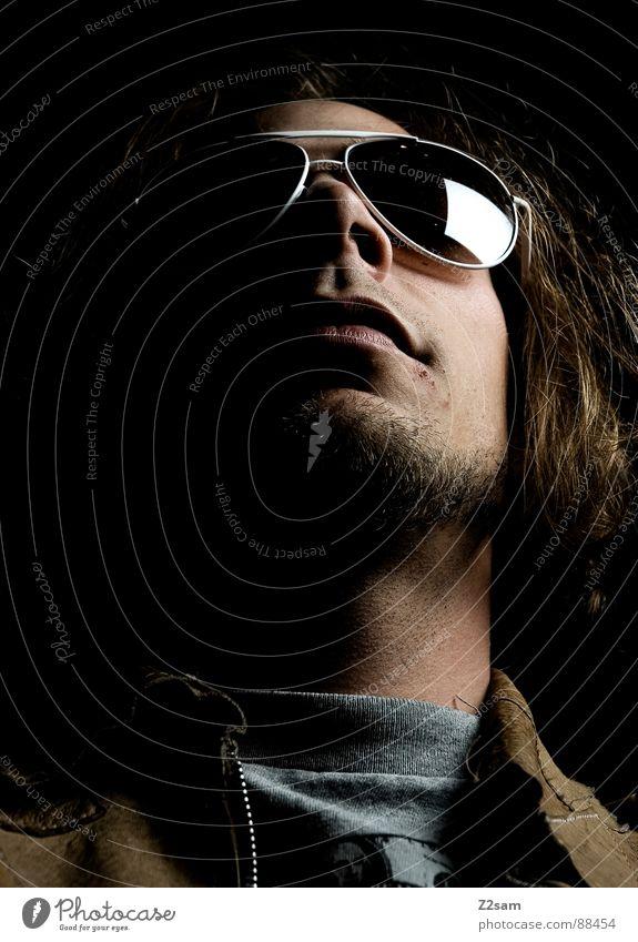 sunshine in my eyes II Mensch Mann Gesicht Auge Ferne dunkel Stil Haare & Frisuren Kopf blond Glas Coolness Brille Spiegel Rockmusik Bart