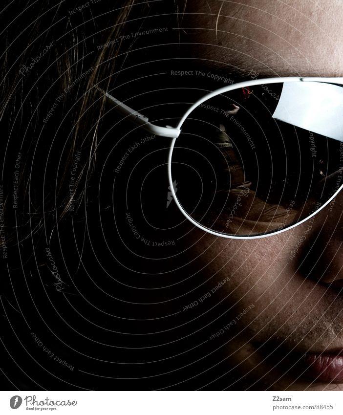 sunshine in my eyes III Mensch Mann Gesicht Ferne Auge dunkel Kopf Haare & Frisuren Stil blond Glas Coolness Brille Spiegel Bart Sonnenbrille
