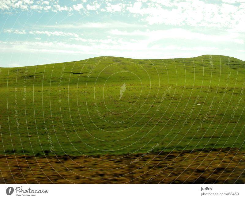 neulich in Hobbingen Natur Himmel grün blau Sommer Ferien & Urlaub & Reisen Wolken Straße Wiese Gras Berge u. Gebirge Frühling braun Erde Geschwindigkeit fahren