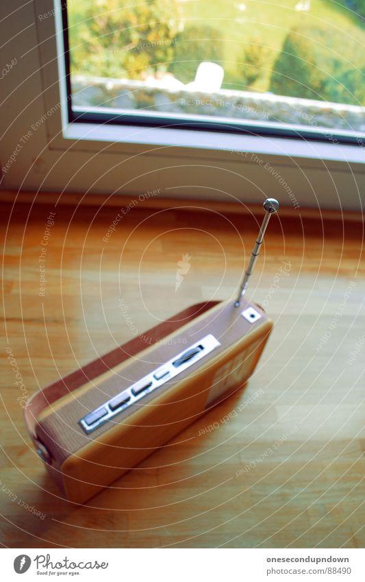 Radio CaCa alt Garten rosa retro Medien Lautsprecher Leder Foyer Griff Antenne Siebziger Jahre Entertainment Haushalt klassisch Fünfziger Jahre