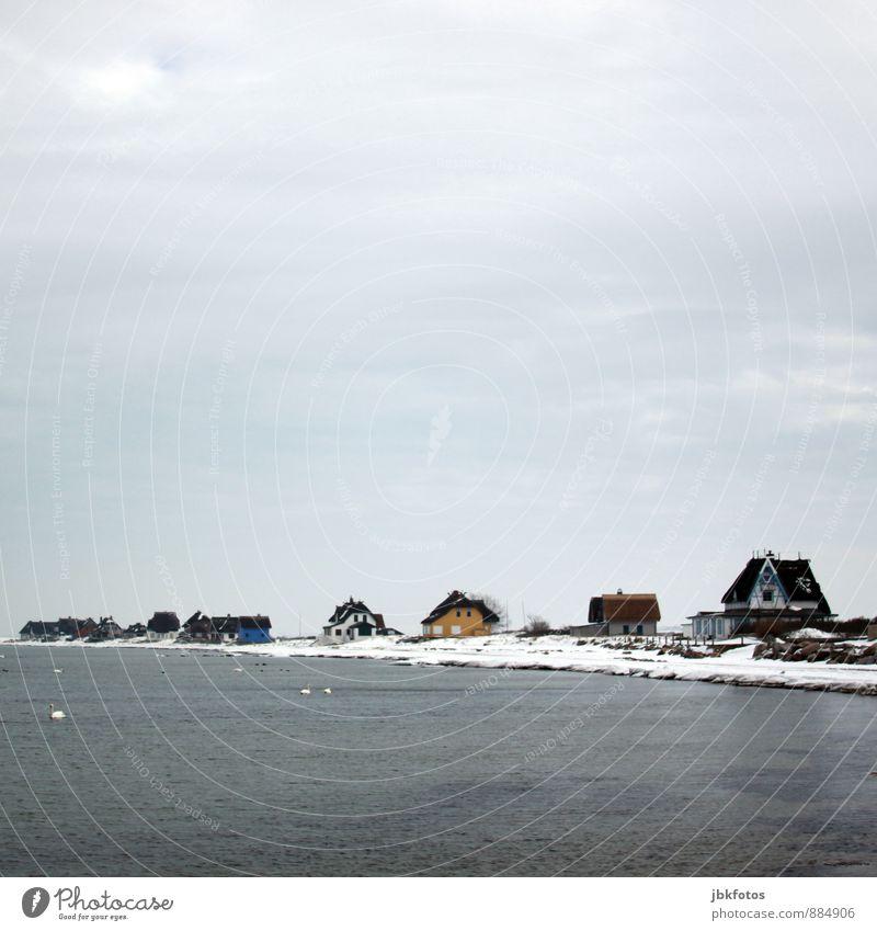 70 / schöner Wohnen Himmel Natur Ferien & Urlaub & Reisen Wasser Landschaft Haus Strand Winter Umwelt Küste Architektur Schnee Gebäude Horizont Wellen