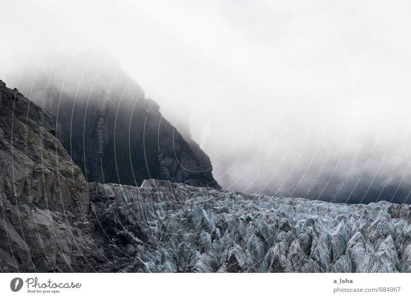 frozen world Himmel Natur Ferien & Urlaub & Reisen Wasser Einsamkeit Landschaft Umwelt Berge u. Gebirge Herbst Felsen Luft Eis Nebel Klima Urelemente