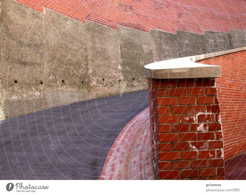 auffahrt Straße Stein Wege & Pfade Architektur Treppe Backstein Autobahnauffahrt
