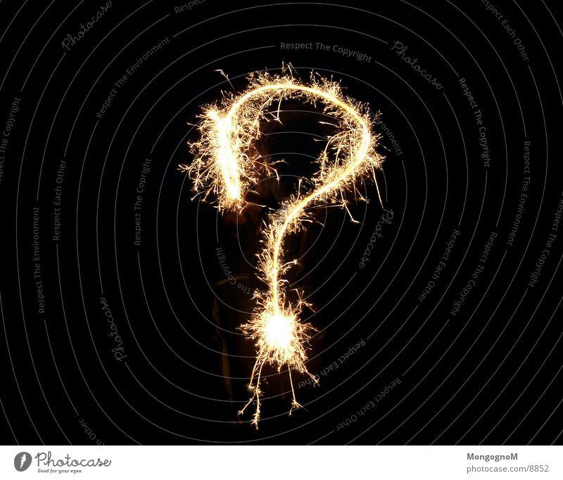 Fragezeichen Wunderkerze Silvester u. Neujahr Langzeitbelichtung Funken