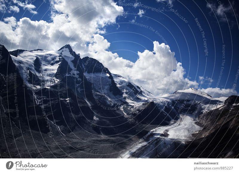 Pasterze Glacier Sommer Umwelt Natur Landschaft Himmel Klima Klimawandel Alpen Berge u. Gebirge Gipfel Schneebedeckte Gipfel Gletscher gigantisch groß