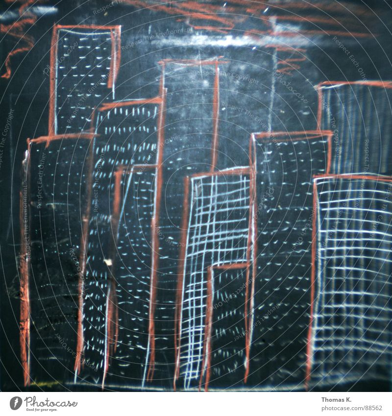 Art Has To Be Copied Stadt Arbeit & Erwerbstätigkeit Business Schilder & Markierungen Hochhaus Kreide Management