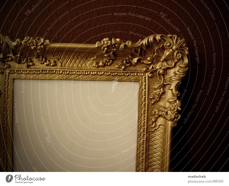 BREAK THE FRAME alt Wand braun Kunst glänzend elegant Wohnung gold ästhetisch Lifestyle leer Kultur Dekoration & Verzierung Innenarchitektur Kitsch Bild