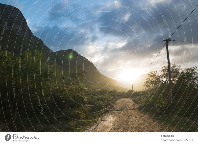 Guten Morgen Ferien & Urlaub & Reisen Tourismus Ausflug Abenteuer Ferne Freiheit Sommer Sonne Umwelt Natur Landschaft Himmel Wolken Horizont Schönes Wetter