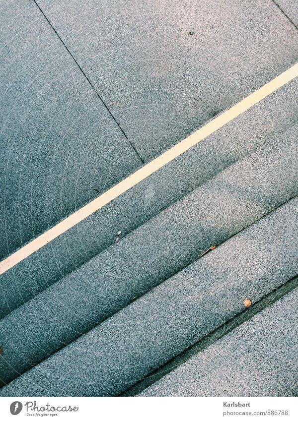 Die Geometrie des Alltags Stadt ruhig Straße Wege & Pfade Bewegung Stein Linie Treppe Verkehr Perspektive Platz Fußweg Bodenbelag Bürgersteig Stadtzentrum