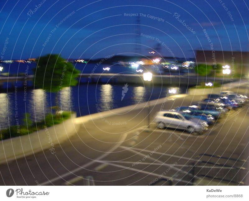 """""""Bizarre Nacht"""" Nachtaufnahme Rotterdam lang Wasser von (einfach belichtet)"""