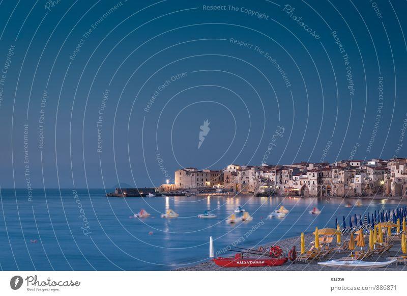 Romantik zum Mitnehmen Himmel Natur Ferien & Urlaub & Reisen Stadt blau Sommer Meer Strand kalt Reisefotografie Küste Stimmung Tourismus Idylle fantastisch