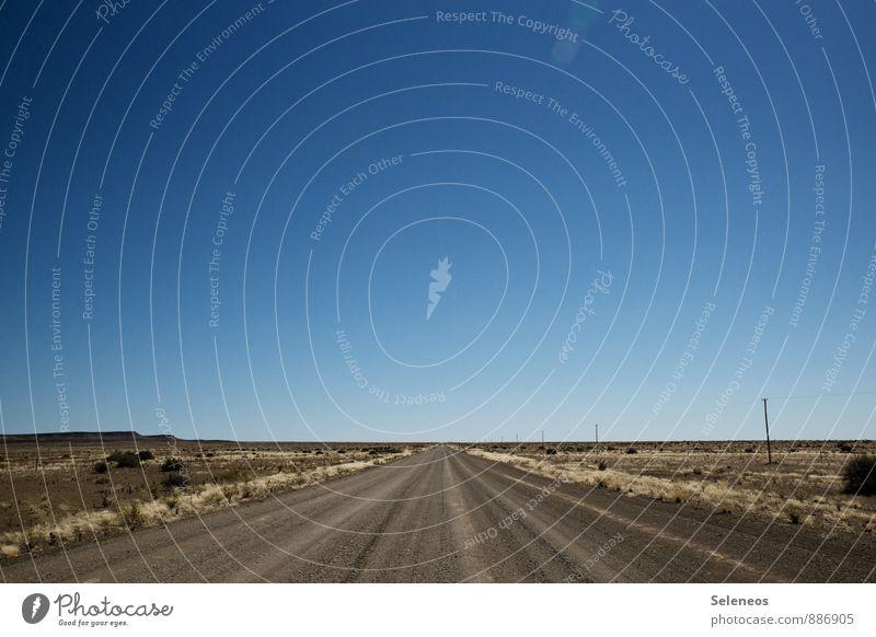namibische Freiheit Himmel Natur Ferien & Urlaub & Reisen Einsamkeit Landschaft Ferne Umwelt Straße Horizont Tourismus Ausflug Abenteuer Sehnsucht Wüste